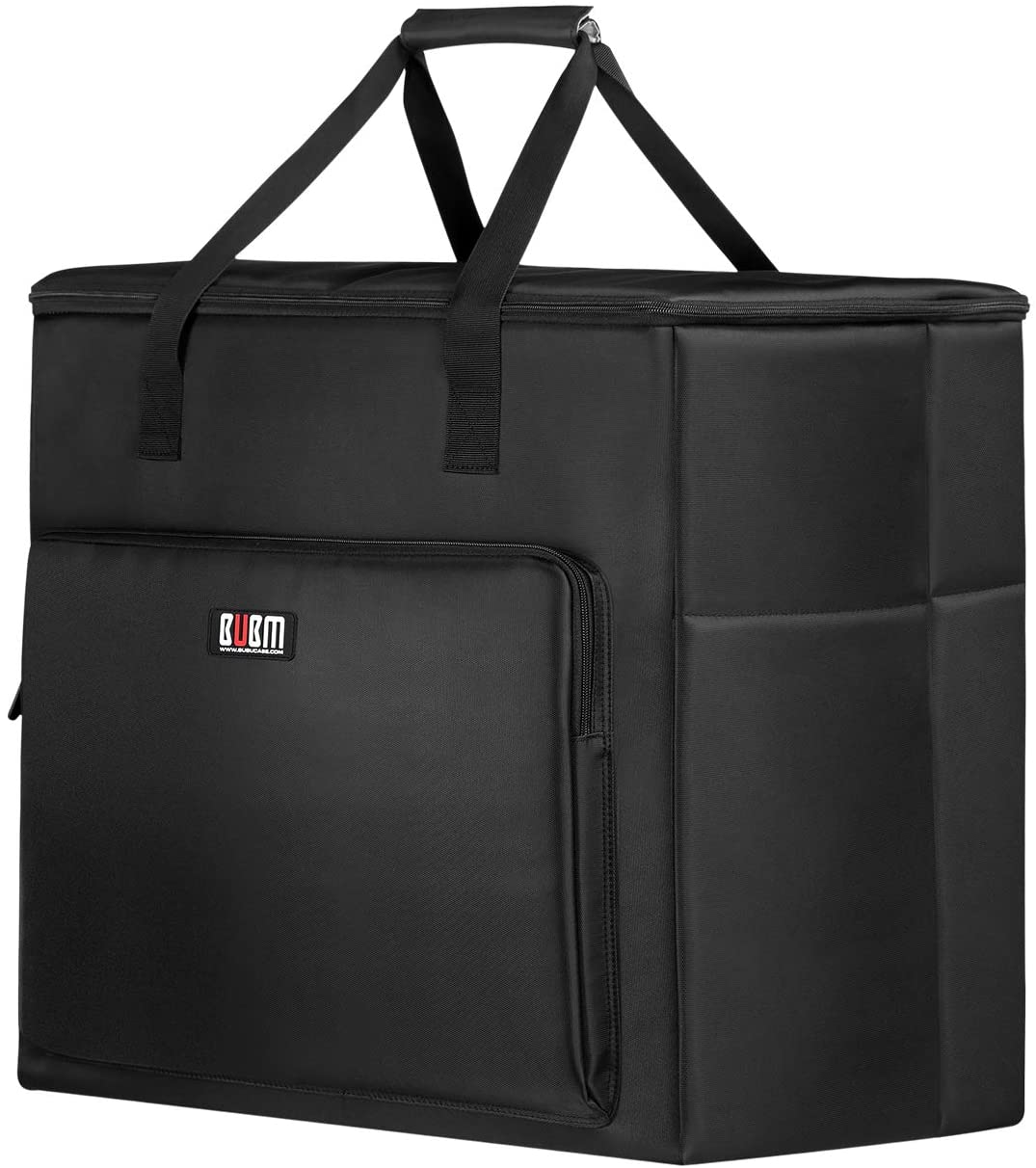 BUBM Multi-Pocket Large Capacity Desktop PC Computer Travel Storage Carrying Case Bag Organizer for 27 Inch Computer Main Processor Monitor Keyboard and Accessories(Size:XL)
