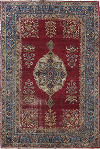 Extremely Fine Antique Persian Kerman Rug Size: 5.0 x 8.0