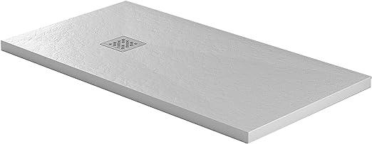 Essence - Plato de Ducha de Piedra de mármol de Resina - Jade ...