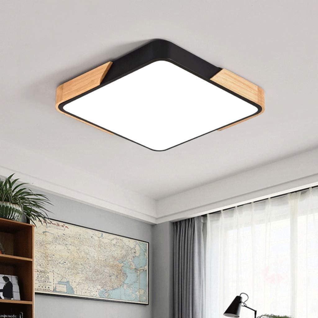 Deckenleuchte LED Kreative Schlafzimmerlampe L30cm / L40cm / L50cm (Farbe: Tricolor Control-White (40cm)) Stepless Dimming-black(50cm)