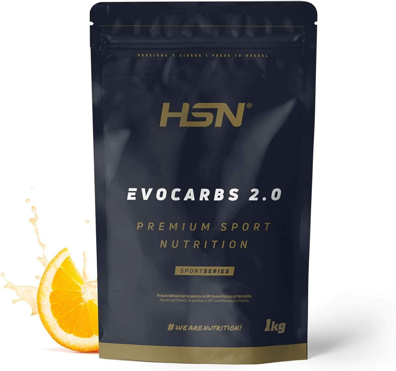 Bebida Isotónica Energética en Polvo para Deportistas Evocarbs 2.0 de HSN   Recuperador Con Carbohidratos: Maltodextrina, Dextrosa y Fructosa   Con ...