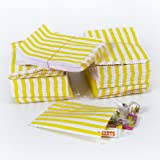 "Jaune Sacs Bonbons bande de papier - 5 ""x 7"" - (1 paquet = 100 sacs)"