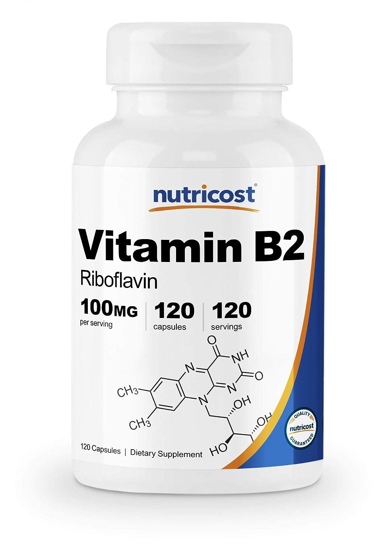 Nutricost Vitamin B2 (Riboflavin) 100mg, 120 Capsules - Gluten Free and Non-GMO