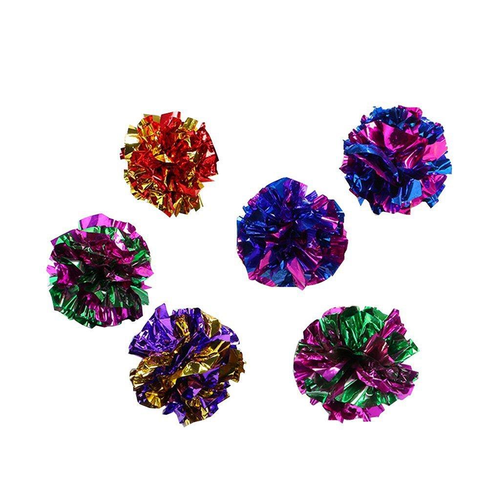 10x Chytaii Balle Boule en Papier Paillettes Jouet pour Chat