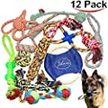 Jalousie 12 Pack Puppy Chew Dog Rope Toy Assortment for Small Medium Large Breeds by Jalousie