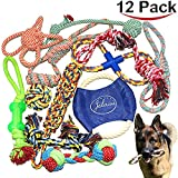 Jalousie 12 Pack Puppy Chew Dog Rope Toy Assortment for Small Medium Large Breeds