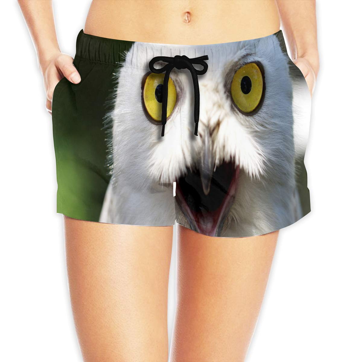 White Owl Womens Summer Beach Shorts Swim Boardshorts