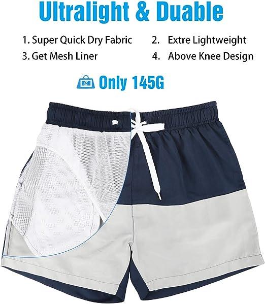 NPRADLA Short De Bain pour Homme Quick Sport Beach Pantalon De Natation Surf