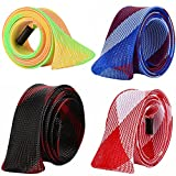 LZLRUN 4Pcs Expandable Braided PET Fishing Spinning Rod Cover Rod 1.77 x 66.93inches Protective Sleeve Gloves