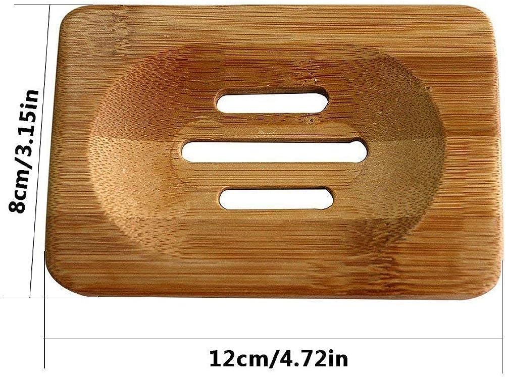 Laat jabonera de madera bambú jabón Soap caja 1pc: Amazon.es: Ropa y accesorios