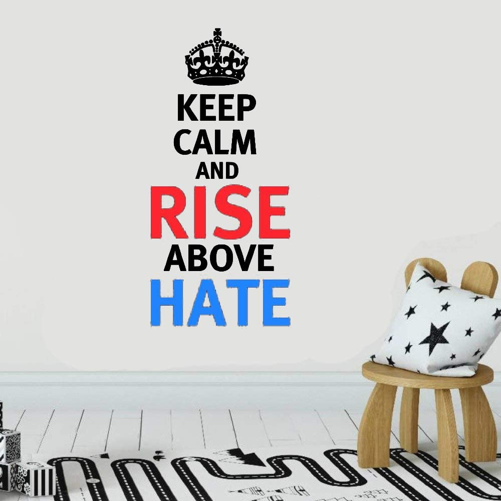 Amazon Com John Cena Quote Wrestling Wrestling Fighter Wwe Motivation Quote Saying Keep Calm And Rise Above Hate Wall Art Sticker Design Home House Wall Room Vinyl Sticker Windows Bedroom Decoration Kitchen