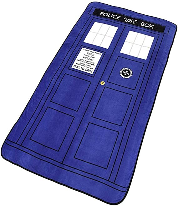 Doctor Who Phone Booth Blanket