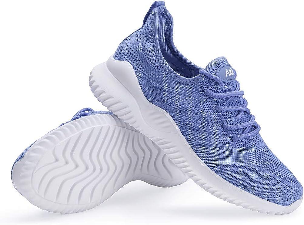 Slip On Memory Foam Lightweight Casual Sneakers for Gym Travel Work Akk Womens Walking Tennis Shoes