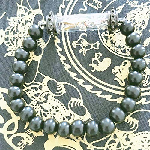 Heavens Tvcz Bracelet Black with 1Takrut Locket Gold & Silver Lucky Bee Thai Amulet Buddha Wealthy Pendant Casing Fantastic Gift for Someone Special or for a Collector of Asian Antiques from Heavens Tvcz