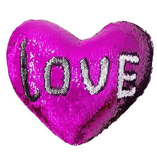 SinceY D Almohada, Purpurina Throw Almohada , corazón cojín ...