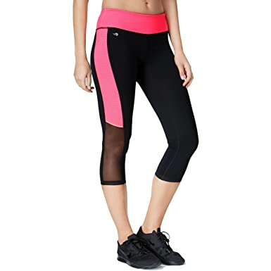0e6fc1d035 Ideology Mesh-Trimmed Cropped Leggings at Amazon Women's Clothing store: