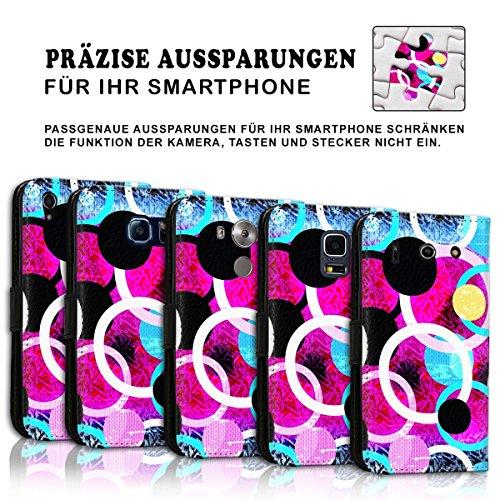 Wallet Book Style Flip Handy Tasche Case Schutz Hülle Schale Motiv Etui für Apple iPhone 6 / 6S - Design Flip MVD182