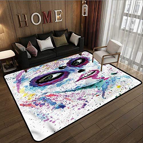 Kids Rug Girls Halloween Lady Make Up Anti-Slip Doormat Footpad Machine Washable -