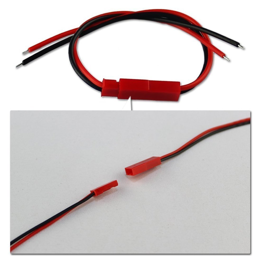 Amazon.com: 10 Pairs 100mm JST 2 Pin Connector Plug Lead Wire for Rc ...