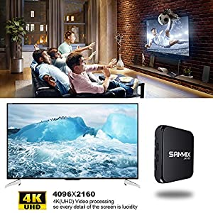 SAMMIX R95 Android TV Box,Android 6.0 1GB RAM 8GB EMMC FLASH Amlogic S905X Quad Cortex-A53 2.0GHz 64bit ,Quad Core Mali-450 GPU WIFI 2.4G LAN 100MB Smart TV BOX