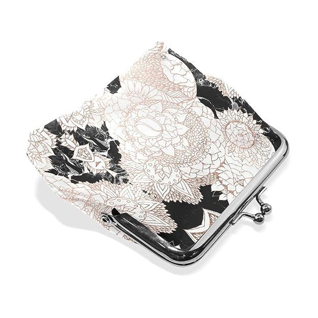 Amazon.com: Monedero de oro rosa con diseño floral para ...