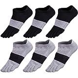 Socken herren 5-6 Paar Männer Sport laufende Zehe Socken Toe Socks