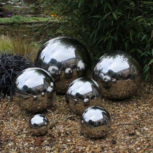 Tidal 40cm Stainless Steel Sphere Decorative Garden Ornament: Amazon.co.uk:  Garden U0026 Outdoors