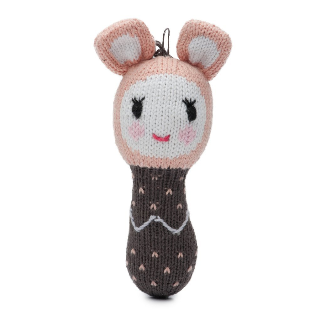 Finn + Emma Mini Rattle Organic Cotton Knit Rattle for Baby Boy Or Girl – Lily The Pika