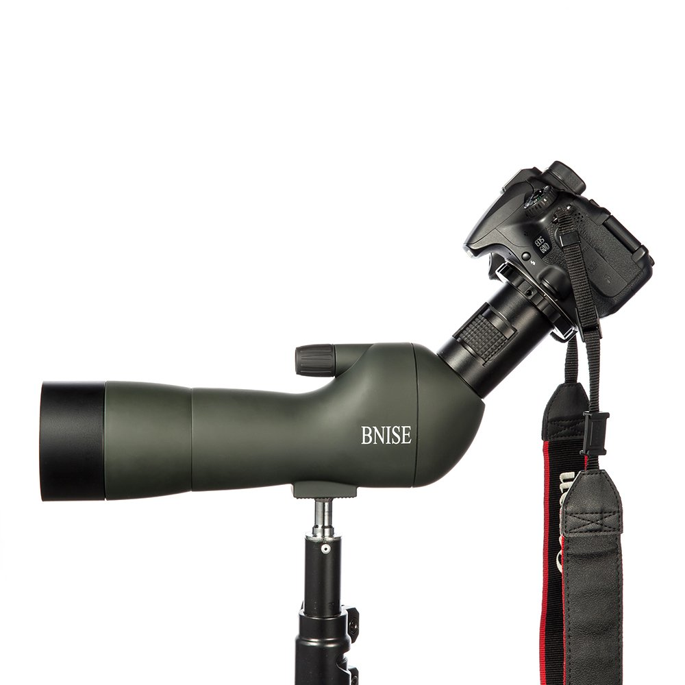 BNISE Spotting Scope, FMC Optics, 20-60x60 Zoom Monocular Waterproof Telescope, With Tripod for Hunting and Target Shooting, with Camera and Phone Photography Adapter