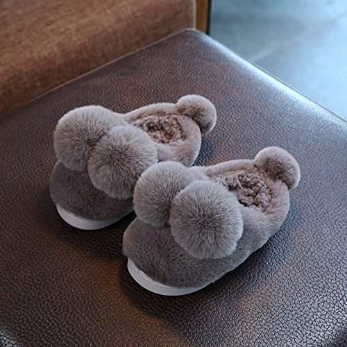 Cotone fankou pantofole femmina inverno soggiorno di una famiglia di tre interne anti-slittamento fondo morbido radice del pacchetto delizioso caldo paio di scarpe di cotone ,37-38, grigio scuro