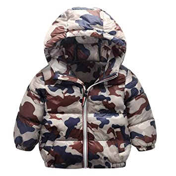 184b33214 Amazon.com   Winter Hooded Coat Baby Boys Girls Outerwear Camouflage ...