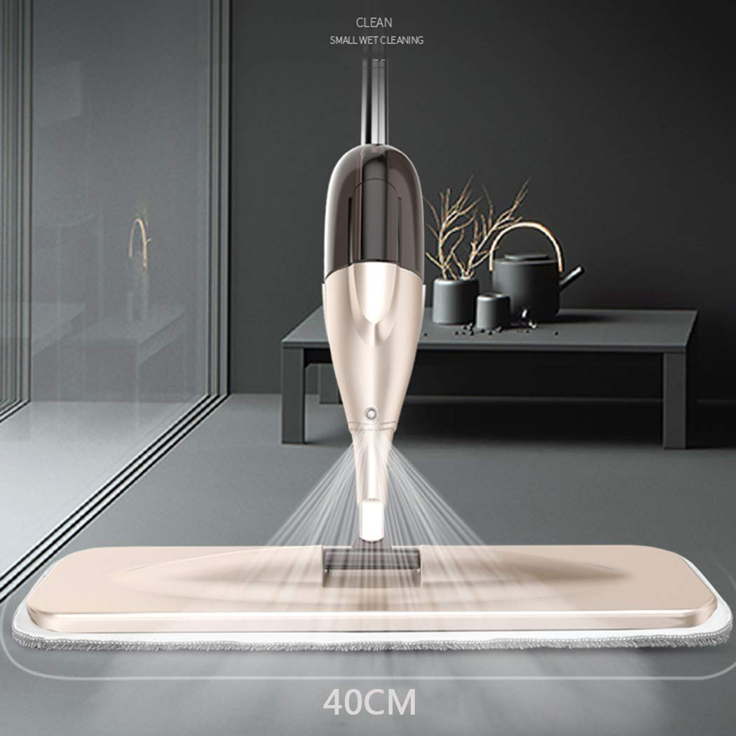 DDayuer Microfiber Hardwood Floor Mop Water Spray Mop Spray Flat Mop Wet and Dry Household Wood Flooring Spray Mop for Floor Cleaning for Tile Floors Wet Jet Mop,Brass by DDayuer
