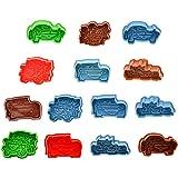 CkeyiN 4pcs Moule à biscuit 3D - Voiture série - Ressort de pression - Modèle et coloris aléatoire, Emporte-pièces pour Fondant, Pâtisserie, Décoration DIY, etc