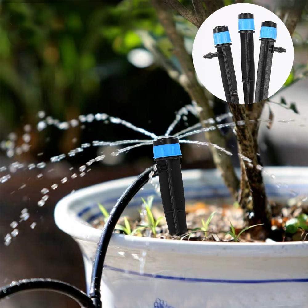 Anpatio 50 Pcs 360 Degree Micro Irrigation Drippers System Garden Adjustable Sprinklers Emitter Watering Equipment Misting Nozzles for Garden Lawn Fruit Tree Flower Vegetables Plants : Garden & Outdoor