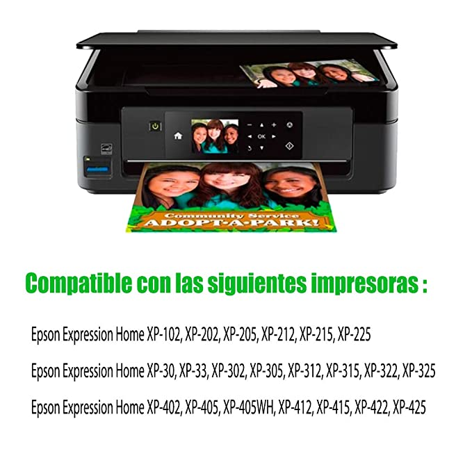 GLEGLE 18XL Compatible tinta cartuchos 10 Reemplazo para Epson Expression Home XP-30 XP-33 XP-102 XP-202 XP-205 XP-212 XP-215 XP-225 XP-302 XP-305 ...