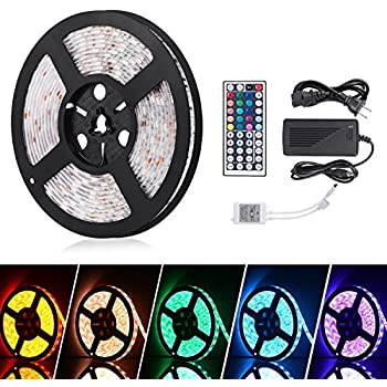 com megulla multi color bias lighting kit ambient accent  ihomy 16 4ft led flexible light strip rgb 300 leds smd 5050 led strip