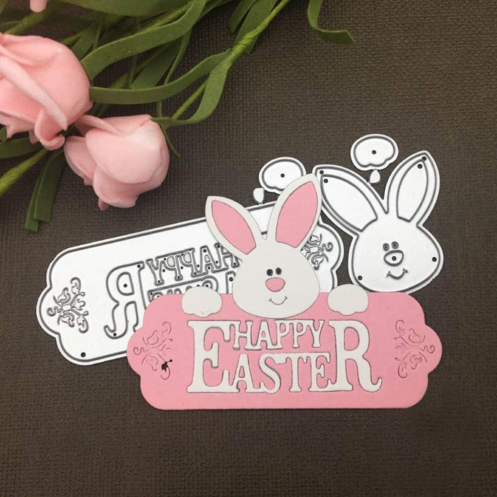 Rabbit Bunny Metal Cutting Die Scrapbooking Embossing Paper Card Craft DIY Tool