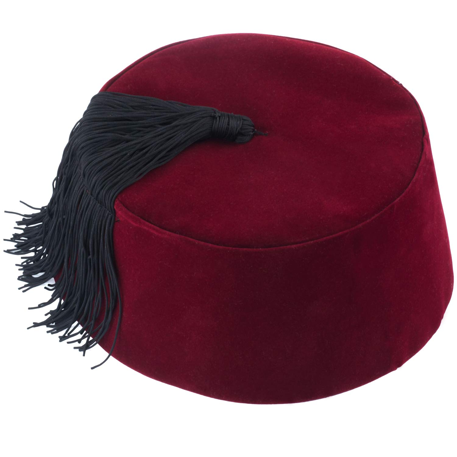 Amazon com: Funny Party Hats Fez Hat - Red Fez Hat with Gold