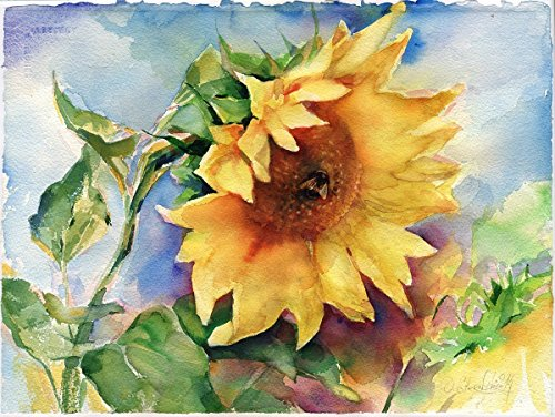 Fine Art Print of Sunflower Watercolor Painting