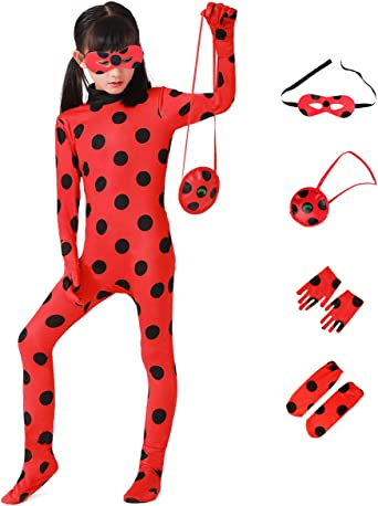 Girls Costume Beetle Dress Up Jumpsuit Suit for Kids Birthday Party 2-10 Years