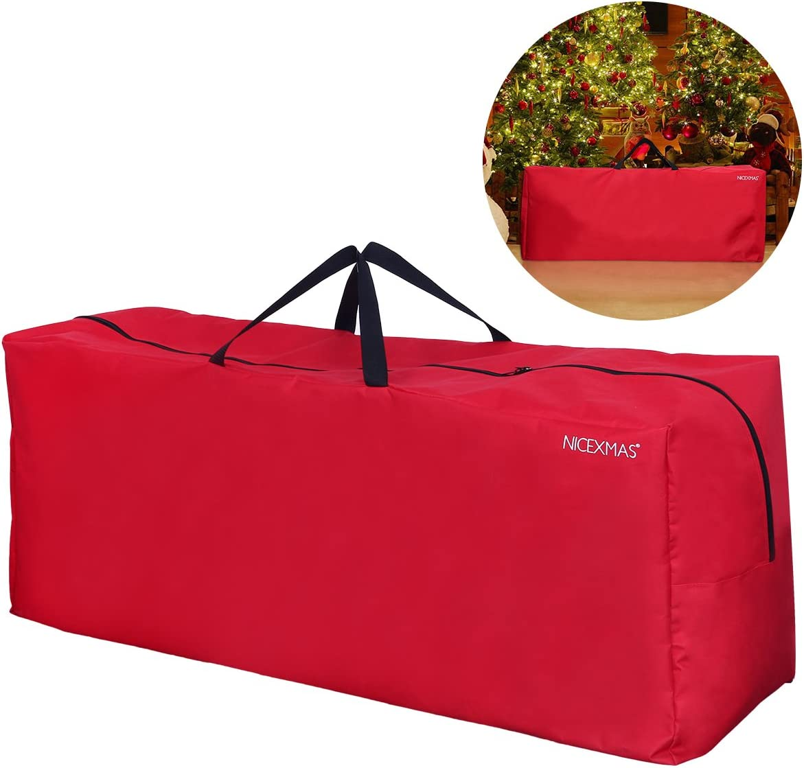 Green NICEXMAS 46*25*38cm borsa//custodia per albero di Natale