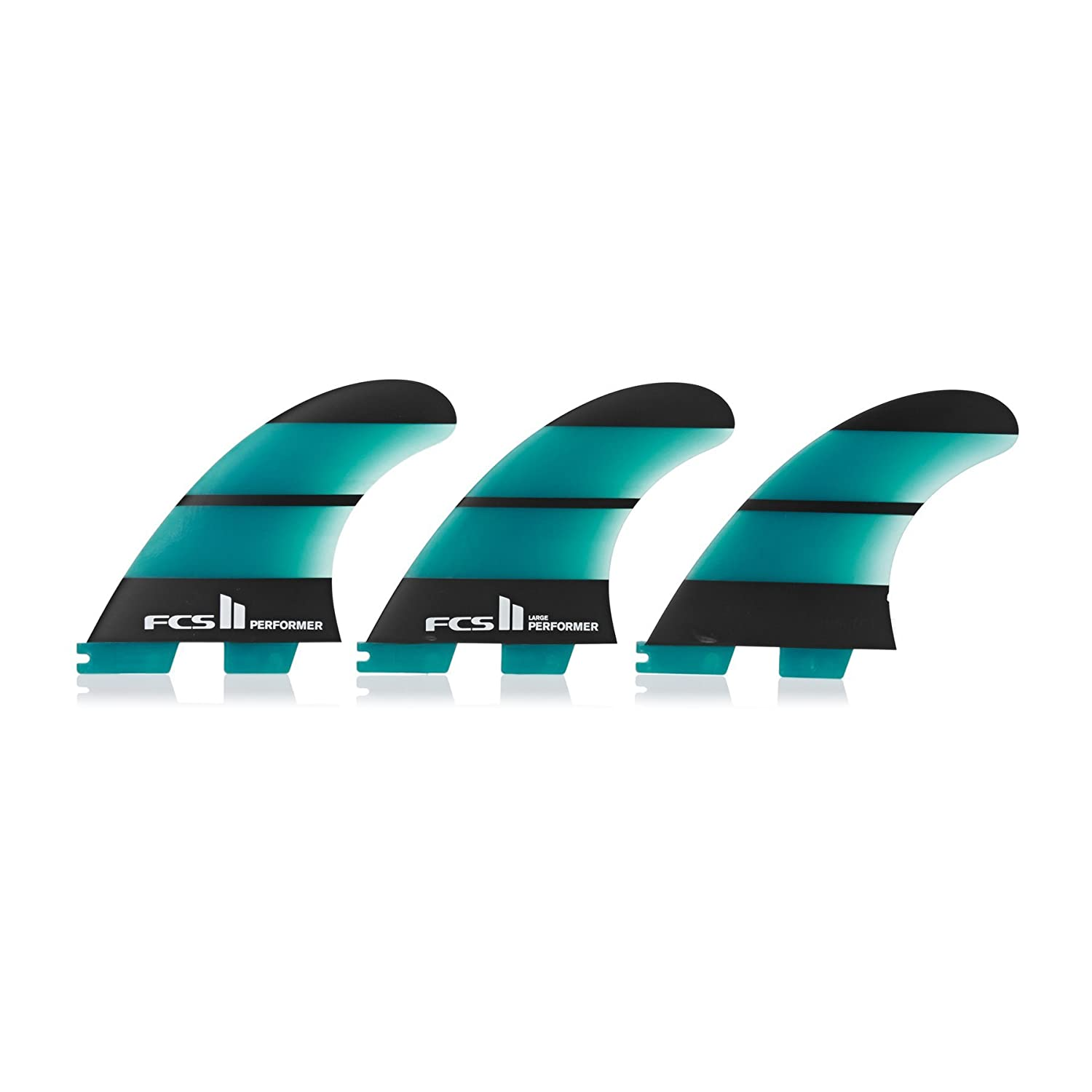 FCS II Performer Neo Glass Blue Large Thruster Set