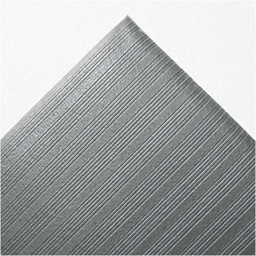 Crown : Ribbed Antifatigue Mat, Vinyl, 27 x 36, Gray -:- Sold as 2 Packs of - 1 - / - Total of 2 Each