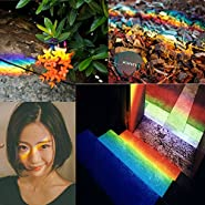 "NEX&CO Glass Prism, 3.4"" Triangular Optical Crystal Glass Light Spectrum Analyzer Science Kit for Preschool School Kids / Photography Camera Lens Filter"