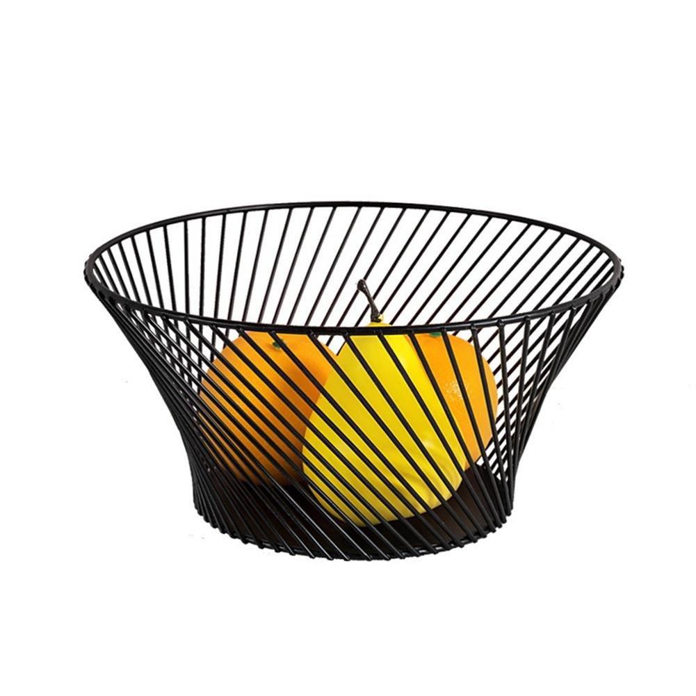 Moderno Minimalista de Hierro Arte Cesta de Fruta Tazón Sala de Estar Snack Plate Almacenaje de la Cesta Organizador: Amazon.es: Hogar