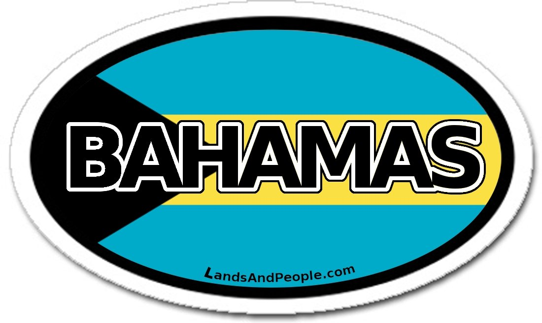 Amazon com bahamas and bahamian flag car bumper sticker decal oval automotive