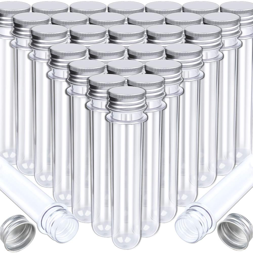 HNYYZL Bestsupplier 30 Pack Science Party Test Tubes 40 ml 25x140mm,Clear Plastic Test Tubes Gumball Candy Tubes, Bath Salt Vials Christmas Birthday Gifts by HNYYZL
