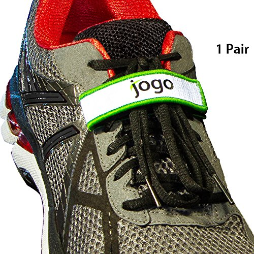 Jogo Grips Shoelace Holder Lace Locks - Reflective Running Gear Accessories for Men & Women. Locks Down Kids laces for Safety, Great for all Sports and Activities like Soccer, Hiking and Jogging by Jogo Grips