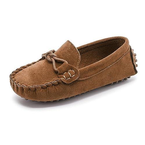 Sunny&Baby Mocasines al Aire Libre para niños de Little Kids Causal Zapatos para niños pequeños Resistente