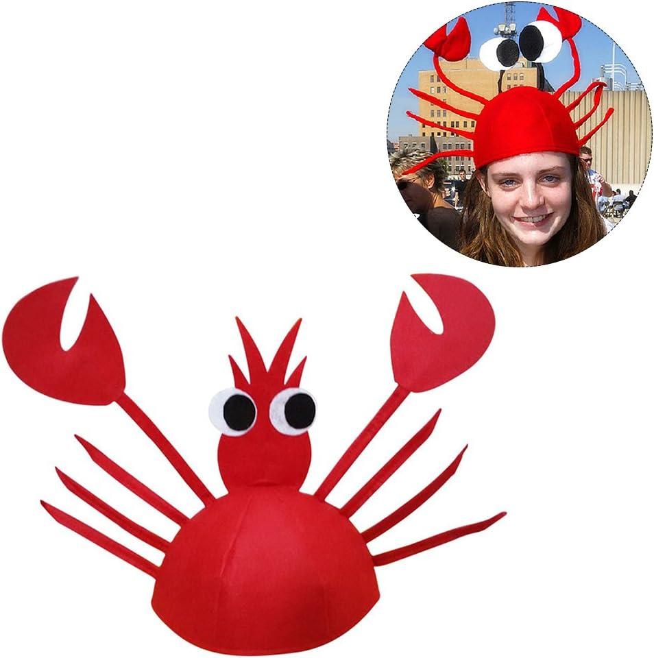 Women Adult Children Kid Crab Red Lobster Cap Hat Headband Party Costume PROP